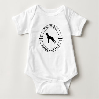 Protected By Wiggle Butt Club Baby undershirt Baby Bodysuit