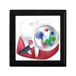 Protected Tooth and Gum Concept Gift Box