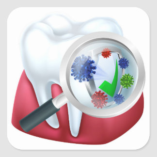 Protected Tooth and Gum Concept Square Sticker