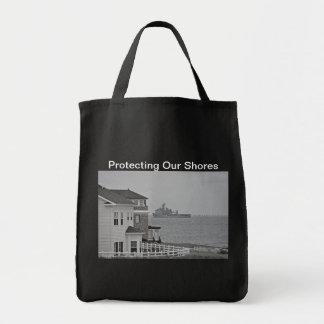 """""""Protecting our shores"""" collection Tote Bags"""