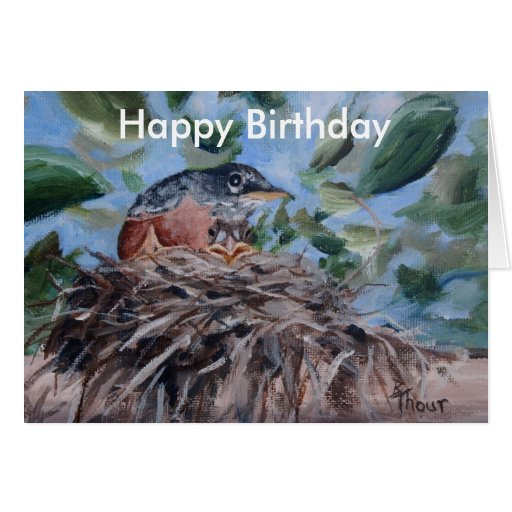 Protecting Robin Birthday Card Greeting Cards