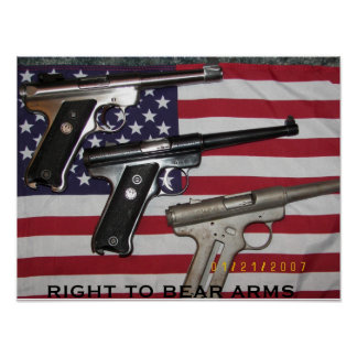 Protecting The American Flag Poster