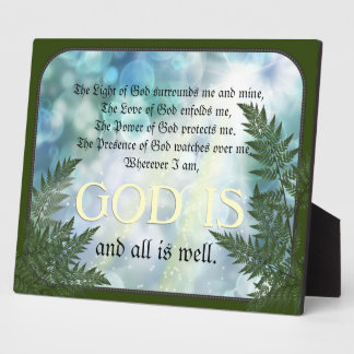 Protection Prayer Plaque