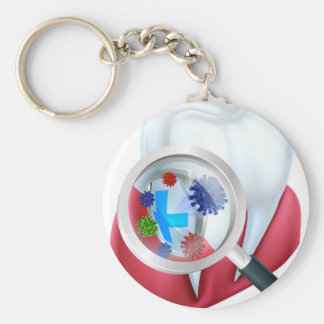 Protection Tooth Shield Key Ring