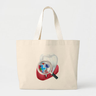 Protection Tooth Shield Large Tote Bag