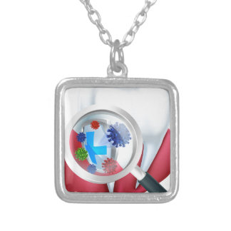 Protection Tooth Shield Silver Plated Necklace