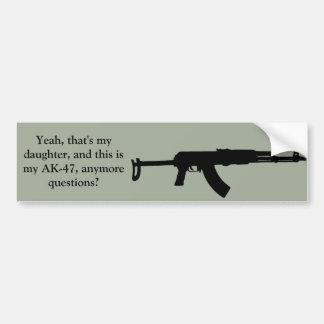 Protective father's bumper sticker
