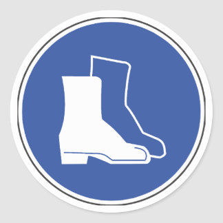 Protective Footwear Safety Sticker