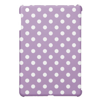 Protective iPad Mini Case - Purple Polka Dot