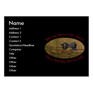 Protective Parent With Son Large Business Cards (Pack Of 100)