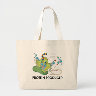 Protein Producer (Biology Protein Synthesis) Large Tote Bag