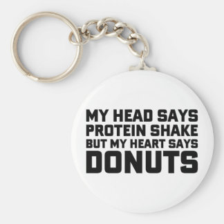 Protein Shake or Donuts Key Ring