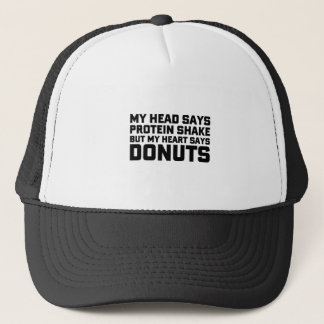 Protein Shake or Donuts Trucker Hat
