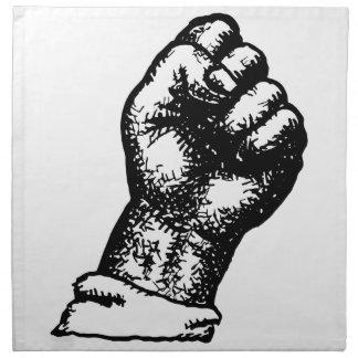 protest fist napkin
