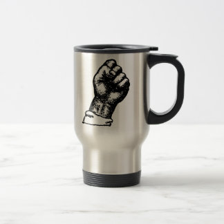 protest fist travel mug