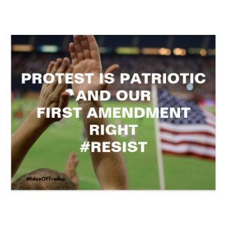 Protest is Patriotic First Amendment Resistance Postcard