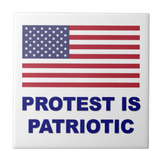 Protest is Patriotic Small Square Tile