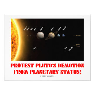 Protest Pluto's Demotion From Planetary Status! Custom Invite
