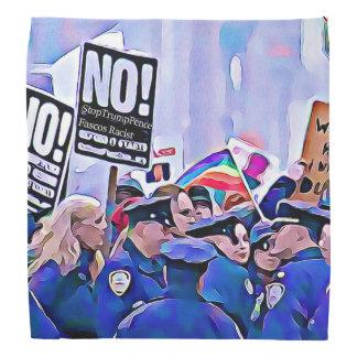 Protest sign Anti Trump Fascist Racist Bandanna