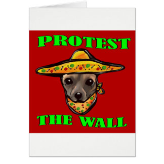 PROTEST THE WALL CARD
