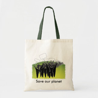 Protest with signs - Green environment Budget Tote Bag