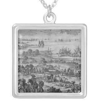 Protestants leaving France Silver Plated Necklace