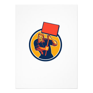 Protester Activist Union Worker Placard Sign Retro Personalised Announcement
