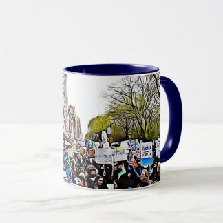 Protesters at the March for Science Coffee Mug