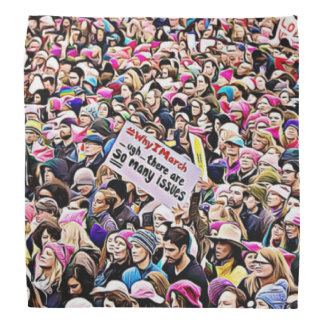 Protesters at the Women's March Bandanna
