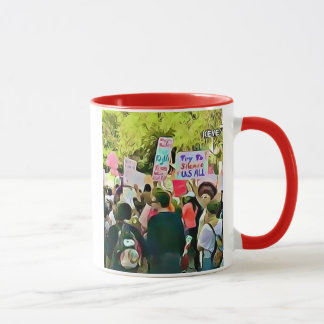 Protesters at the Women's March Coffee Mug