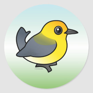 Prothonotary Warbler Classic Round Sticker