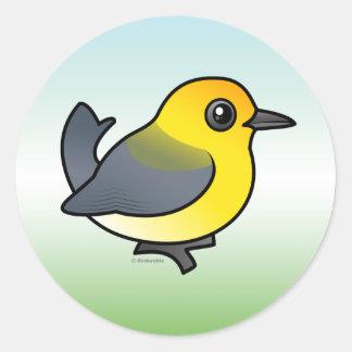 Prothonotary Warbler Round Sticker