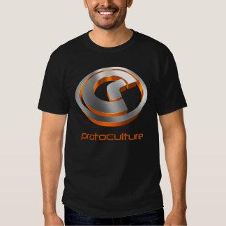 Protoculture (Trance): 3D Metallic Orange (Black) T Shirts