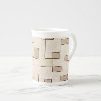 "Protoglifo Pattern n1 ""Toffee Cake "" Bone China Mug"