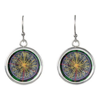 Proton Collisions at the LHC earrings