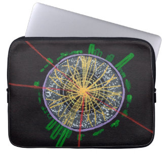 Proton Collisions at the LHC laptop sleeve