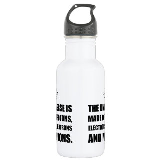 Protons Electrons Neutrons Morons 532 Ml Water Bottle
