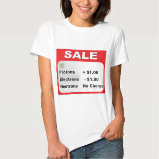 protons electrons neutrons sale t-shirts