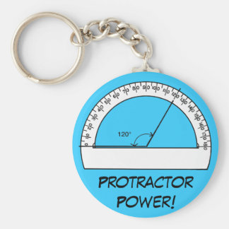 Protractor Power Key Ring