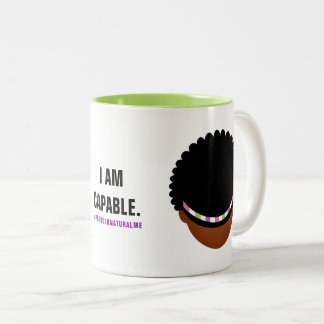 #Proud2BNaturalMe Affirmation Two-Tone Coffee Mug