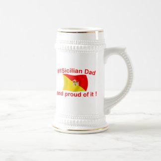 Proud #1 Sicilian Dad Beer Stein