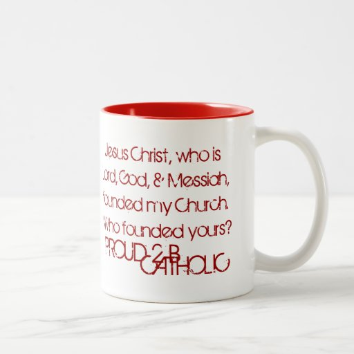 PROUD 2 B CATHOLIC - Mugs - Dark Red