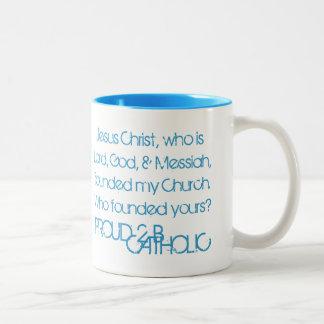 PROUD 2 B CATHOLIC - Mugs - Light Blue