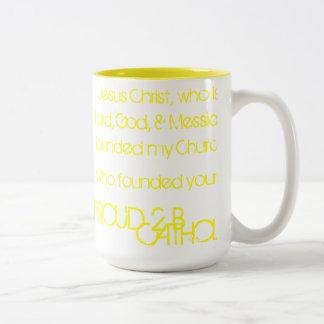 PROUD 2 B CATHOLIC - Mugs - YELLOW