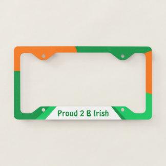 Proud 2 B Irish Licence Plate Frame