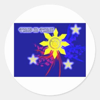 proud 2b pinoy classic round sticker