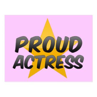 Proud Actress Post Card
