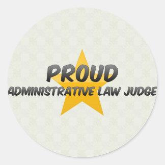 Proud Administrative Law Judge Round Sticker