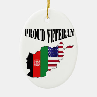 Proud Afghanistan veteran Ceramic Ornament
