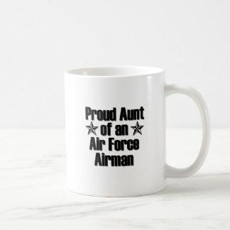 Proud Air Force Aunt Basic White Mug